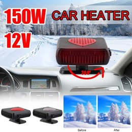 12v car defroster Canada - Efficient Portable Car Heaters Internal Heaters Rotatable Glass Defogging Defroster Auxiliary Heating Car Tools 12V 150W