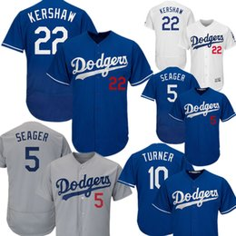 e5019e58e 5 Corey Seager Los Angeles Dodgers 22 Clayton Kershaw 10 Justin Turner 8  Manny Machado 35 Cody Bellinger 66 Puig FlexBase CoolBase Jersey