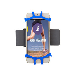 phone holder for running purple UK - Sports Running Armband Strap Phone Holder Open-face Design with Key Holder Universal for 4-6 Inch Phone