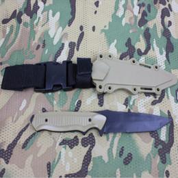 $enCountryForm.capitalKeyWord Australia - AC-6019 US Army Soft Plastic Knife Model Decoration Training Knife Cosplay Props Knife Paintball Dummy Black Sand