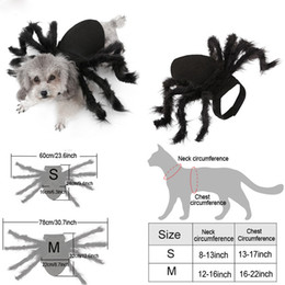 Wholesale play dress up resale online - Dogs Costume Black Spider Clothes Halloween Pet Cosplay Spider Clothes Pet Bat Role Play Dressing Up Cute Clothes Pet Dogs BH2339 TQQ