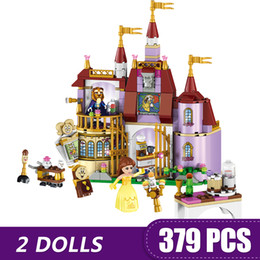 Blocks For Girls Australia - 379PCS Small Building Blocks Toys Compatible with Legoe Belle's Enchanted Castle Gift for girls boys children DIY