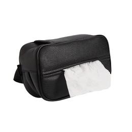 $enCountryForm.capitalKeyWord UK - ABEDOE Fashion Visor Type PU Leather Car Tissue Box Napkin Holder Car Tissue Holder Seat Box Size 20*11*8cm