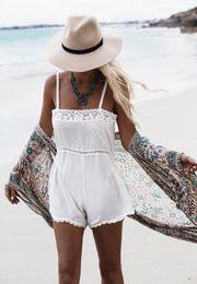 b08a6e766a 2019 Plus Size Blue Embroidered Summer Beachwear Chiffon Kaftan Beach Woman  Tunic Bath Dress Robe plage Swim Wear Cover Up