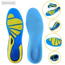 Insole Gel For Shoes NZ - BORDER FOR TRAVELER Silicone Gel Insoles Foot Care for Plantar Fasciitis Heel Spur Sport Shoe Pad Insoles Arch Orthopedic Insole