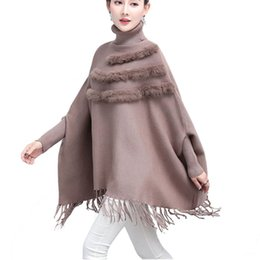 $enCountryForm.capitalKeyWord Australia - 2019 Spring Women Fashion Autumn Winter Rabbit Furs Cashmere Blending Tassels Hem Long Casual Wrap Swing Scarves Smocks