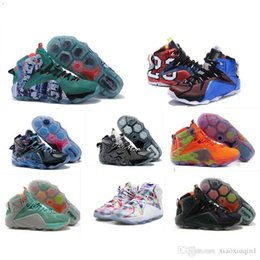 Discount lebron laces - What the Lebron 12 XII shoes mens basketball for sale lebrons MVP BHM Blue Easter colorful Akronite DB boots with Size 7