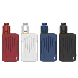 EcigarEttE box mods online shopping - Original Invader X Kit With Teslacigs vapes X Box Mod W mm RDA Atomizer Fit Dual Battery Resin Tip ecigarette DHL