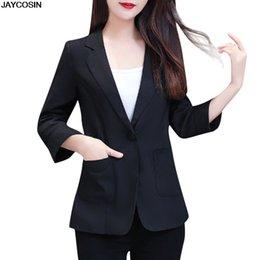 Hot pink blazers online shopping - JAYCOSIN Green PINK Single Button Ladies Blazers Women Spring Autumn Women Suit Jacket Blazer Femme Office Tops Coats hot