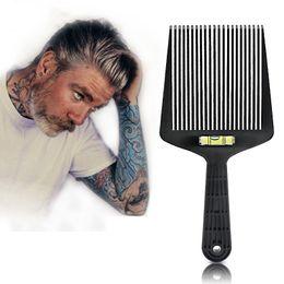Cutting Hair For Men Australia - Professional Hairdressing Comb multifunctional Horizontal Brush Crew cut hair clipper Retro Oil head brush Styling Tools for men