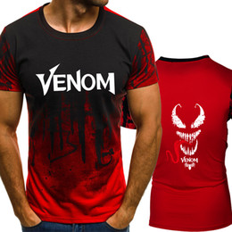 spiderman tee shirts NZ - Venom Anime Spiderman Gradient color T Shirt Men Fast compression Breathable Mens O-Neck Short Sleeve Fitness t-shirt Gyms Tee tops