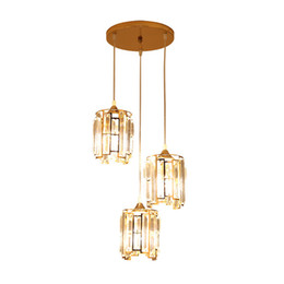 modern lantern lamp NZ - contemporary and contracted single head crystal droplight circle office, restaurant table lighting lamps and lanterns 2019