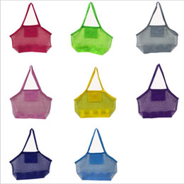 $enCountryForm.capitalKeyWord Australia - Sand Away Beach Mesh Bags Pouch Kids Toys Away Tote Handbags Buggy Storage Bag Net Seashell Organizer Sandboxes Sandpit Cross Bags B6046