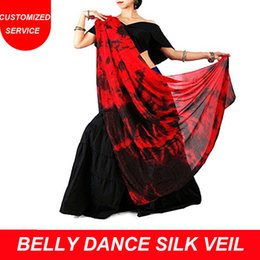 Wholesale New Real Silk dancing Veil Scarf Tie dyed Veils Belly Dance Veil for Women