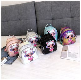 $enCountryForm.capitalKeyWord Australia - 12styles Dolls cartoon backpack pu handbag Kids Girls colorful student kis school Bags travel party Christmas Gifts FFA2647