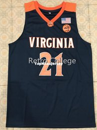 fbd2cf66903 #21 Isaiah Wilkins Virginia College Retro Top stitched embroidery basketball  jerseys Customized Any Name And Number Jersey XS-6XL Vest Jerse