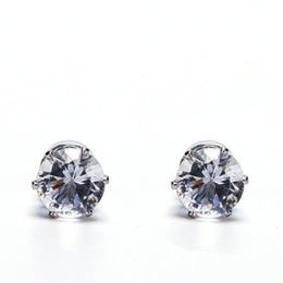 Venta al por mayor de Blanco Negro Imán magnético Ear Stud Pendientes de fácil uso Crystal Stone Stud para mujer hombre Pendientes Clip en sin oreja gif 1 par