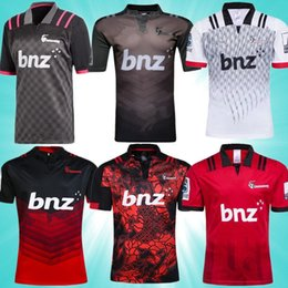black jersey new zealand NZ - 2019 New Zealand Super Rugby Jersey Crusaders 18 Rugby League Shirts 1819 adult jersey rugby jersey