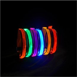$enCountryForm.capitalKeyWord Australia - 1PC LED Reflective Light Arm Armband Strap Safety Belt for Night Sports Running Cycling Hand Strap Wristband Wrist Bracelets