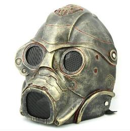 Discount evil masks - halloween party High quality Resin Mask Radiation 3 Evil ghost masks Men' CS Protective COS Resident Evil mask A224