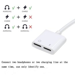 Music Connector Australia - 2 in 1 Dual For Headphone Audio Charger Adapter Connectors Cable Charging Music