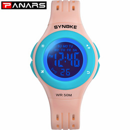 Wholesale fashion dresses for boys resale online - PANARS Fashion Colors LED Children Watches WR50M Waterproof Kids Wristwatch Alarm Clock Multi function Watches for Girls Boys