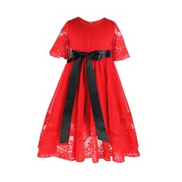 a046fed468a Red Graduation Party Dresses UK - Red Cheap Lovely Short Flower Girls Dresses  Lace Dress Puffy