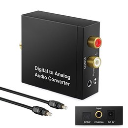 coaxial audio rca adapter NZ - 3.5mm Jack Audio Converter Coaxial Optical Fiber Toslink Digital to Analog L R RCA Adapter SPDIF Digital Audio Stereo Amplifier