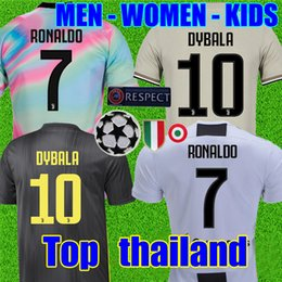 Chinese  Thailand RONALDO Juventus 2019 champions league soccer jerseys DYBALA 18 19 Sports football kit shirt MEN WOMEN KIDS sets JUVE manufacturers