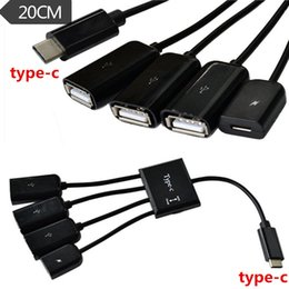 Charging Connector Types Australia - 4 in1 USB 3.1 Type C Male Plug To USB 2.0 Female Connector Charge OTG Cable