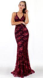 $enCountryForm.capitalKeyWord NZ - New Beautiful sexy V-neck sling sequin dres dress lace floor dress long hollow backless Luxury Designer long skirt nightclub party ladies
