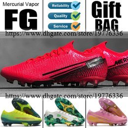 Wholesale white mens ankle socks for sale – custom New Mercurial Vapors XIII FG Soccer Football Shoes Future Lab Mbappe CR7 Ronaldo Neymar Mens ACC Socks Soccer Cleats Football Boots