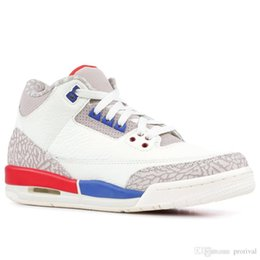 708ab56e1c6430 3 Men Basketball Shoes Charity Game Black White Cement Cyber Monday Katrina  Quai 54 Fire Red JTH Tinker Jumpman 3s Sports Sneakers 8-13