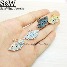 wholesale women fashionable tops NZ - new!10pcs 2017 elegant fanion butterfly shape pendant inlay top quality stone fan shape pendant necklace for fashionable women