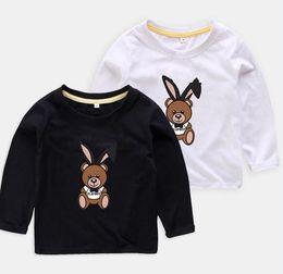 Kids Girls Tee Shirts Australia - Retail new children clothes brand designer Baby boys girls shirts Tops children Tees kids Clothing 5 colors Long Sleeve t shirts
