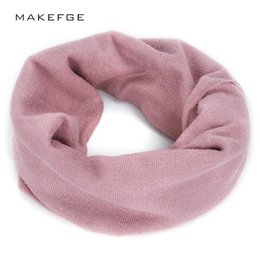 cotton candy scarf 2019 - Fashion woman solid color scarf autumn and winter warm knit scarf quality cotton candy color elegant ladies outdoor casu