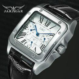 $enCountryForm.capitalKeyWord Australia - Jaragar Top Brand Luxury Watches For Men Women Unisex Automatic Mechanical 3 Working Sub-dials Fashion Dress Wrist Watch Man MX190725
