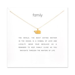 mothers days cards Australia - Fashion Whale Pendant Necklace Women Minimalist Clavicle Chain Fish Choker Necklaces Valentine's Day Gift Card Mothers Day
