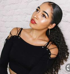 $enCountryForm.capitalKeyWord NZ - Sleek Kinky curly pony tail hairpiece drawstring wrap around women ponytail hair extension 100g-160g natural color