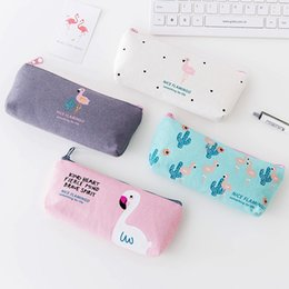 Discount bird pens - 1Pcs Cute Cactus Bird Canvas Pencil Cases Stationery Storage Pen Bag Fresh Gifts School Office Pencil Bags Lovelty Pouch