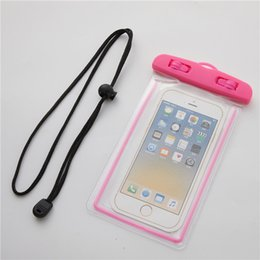 $enCountryForm.capitalKeyWord Australia - Portable PVC Waterproof Phone Case Bag For iPhone X Samsung S10 Cell Phone Waterproof Dry Bag Up to 6.5 Inch Have Lanyard