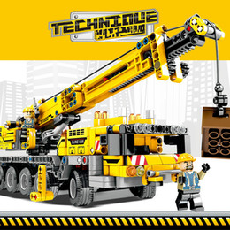 Toy inserTions online shopping - Mechanical Technology Children Building Block Crane Boys and Girls Intelligent Insertion and Assembly Building Block Toys