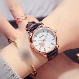 Discount high school watch - Cute Butterfly Luminous with Waterproof Female High School Students Trend Watch for Women Fashion & Casual Chronograph