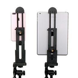 Wholesale Universal Adjustable Pad Tripod Mount Holder Adapter For iPhone iPad Air Pro Mini And Android Tablet Pad Smartphone Inch S
