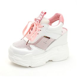 $enCountryForm.capitalKeyWord Australia - Rimocy 2019 Summer Cut Out Air Mesh Platform Sneakers Women High Heels Wedges Sandals Woman Casual Shoes Zapatos Mujer Y190704