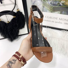 Leather cLosed toe sandaLs online shopping - Women Sandals Summer Flats Best Large Couragous Sandals Girls Casual Leisure Shoes Designer Ladies Beach Sandales Dames Wear