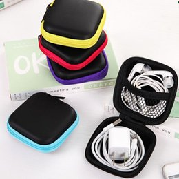 Cable Shoes Australia - 1pc Cable Travel Bag Headphones Earphone Cable Tidy Storage Boxes Hard Case Cable Pouch Portable Carrying