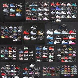 venda por atacado brinquedos bonito mini Silicone Sneaker Chaveiros AJ chaveiro tênis de basquete mochila pingente keyring sapatos de força presente criativas chaveiro