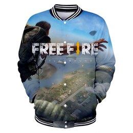 Cool Sweatshirt Jackets Australia - FREE FIRE Fashion Cool 3d Baseball Jacket Men Women Hoodie Sweatshirt Casual Long Sleeve 3D Hoodies Jackets Top 4XL