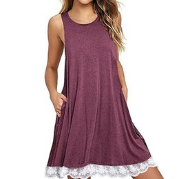 d6e67ebe9232 Lace paneL beach online shopping - Summer Lace Up Woman Mini Dress Beach  Bohemian Sleeveless Round